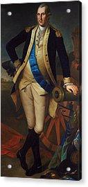 George Washington Acrylic Print by Charles Wilson Peale
