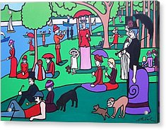 George Seurat- A Cyclops Sunday Afternoon On The Island Of La Grande Jatte Acrylic Print by Thomas Valentine