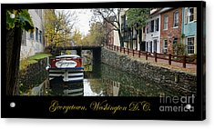 Georgetown Canal Poster Acrylic Print by Olivier Le Queinec