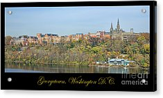 Georgetown Poster Acrylic Print by Olivier Le Queinec