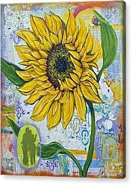 Georgia Sunflower Acrylic Print by Random Act aka Andrea LaHue