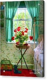 Geraniums In The Bedroom Acrylic Print by Nikolyn McDonald