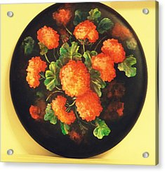 Geraniums Acrylic Print by Patricia Rachidi