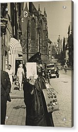 German Street Vendor Sells Nazi Acrylic Print by Everett