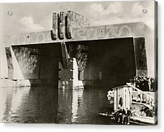 German U-boat Pens Acrylic Print by Eye On The Reich: German Propaganda Photographs/new York Public Library