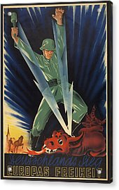 German World War 2 Poster. Deutschlands Acrylic Print by Everett