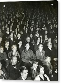 Germans Attend The Theater To View Nazi Acrylic Print by Everett