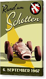 Germany Grand Prix F1 1967 Acrylic Print by Georgia Fowler