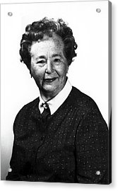 Gertrude Elion Acrylic Print by National Cancer Institute