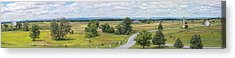 Gettysburg Panoramic From Top Of Pennsylvania Memorial Acrylic Print by Randy Steele