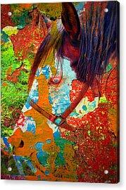 Ghost Horse Acrylic Print by Skip Hunt