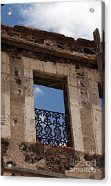 Ghost Hotel Real De Catorce Mexico Acrylic Print by Linda Queally