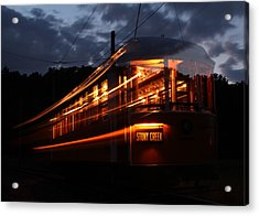 Ghost Of Trolleys Past I Acrylic Print by Jim Poulos