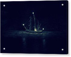Ghost Ship Acrylic Print by Laurie Perry