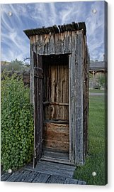 Ghost Town Outhouse - Montana Acrylic Print by Daniel Hagerman