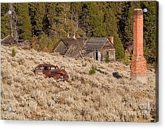 Ghost Town Remains Acrylic Print by Sue Smith