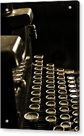 Ghost Writer Acrylic Print by Everett Bowers