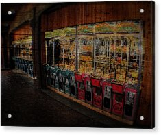 Ghosts Of The Arcades Play Here At Night Acrylic Print by Doc Braham