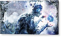 Ghosts Of The Concrete World Acrylic Print by Cameron Gray