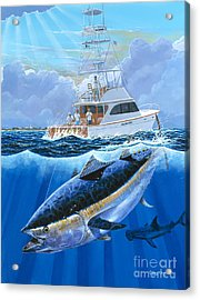 Giant Bluefin Off00130 Acrylic Print by Carey Chen