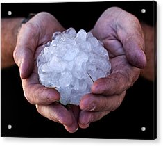 Giant Hailstone From The American Midwest Acrylic Print by Paul D Stewart