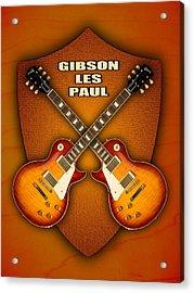 Gibson Les Paul Standart  Shield Acrylic Print by Doron Mafdoos