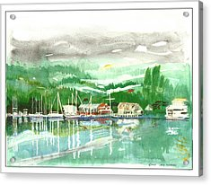 Gig Harbor Waterfront Acrylic Print by Jack Pumphrey