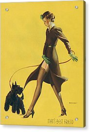 Gil Elvgren's Pin-up Girl Acrylic Print by Underwood Archives