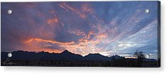 Gila River Indian Sunset Pano Acrylic Print by Anthony Citro