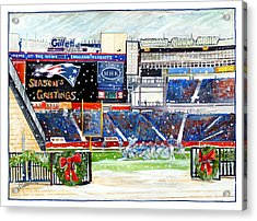 Gillette Holidays Acrylic Print by Dave Olsen