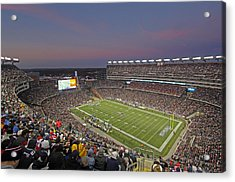 Gillette Stadium And New England Patriots Acrylic Print by Juergen Roth
