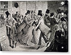 Gin-shop To Dancing-room Acrylic Print by British Library