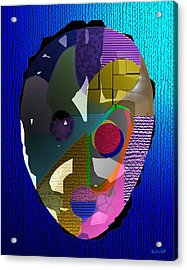 Ginsin Mask Acrylic Print by Charles Smith