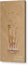 Giraffe And Rubber Duckies Acrylic Print by David Breeding
