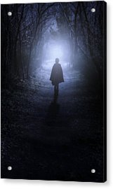 Girl In The Woods Acrylic Print by Joana Kruse