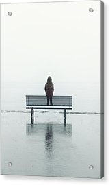 Girl On A Bench Acrylic Print by Joana Kruse