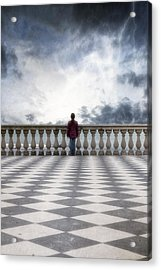 Girl On A Terrace Acrylic Print by Joana Kruse