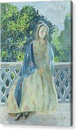 Girl On Balcony, 1900 Acrylic Print by Viktor Elpidiforovich Borisov-Musatov