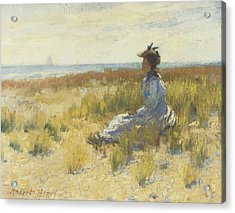 Girl Seated By The Sea Acrylic Print by Robert Henri