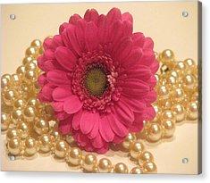 Girls Like Pearls Acrylic Print by Angela Davies