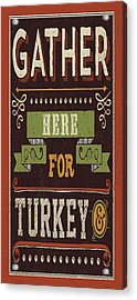 Give Thanks I Acrylic Print by Pela Studio