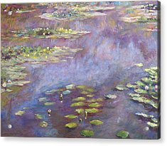 Giverny Nympheas Acrylic Print by David Lloyd Glover