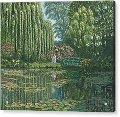 Giverny Reflections Acrylic Print by Richard Harpum