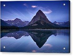 Glacier Park Reflection Acrylic Print by Andrew Soundarajan