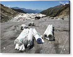 Glacier Protection Acrylic Print by Science Photo Library