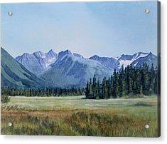 Glacier Valley Meadow Acrylic Print by Sharon Freeman