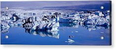 Glaciers Floating On Water, Jokulsa Acrylic Print by Panoramic Images