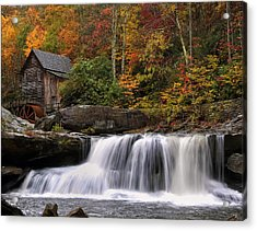 Glade Creek Grist Mill - Photo Acrylic Print by Chris Flees