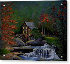 Glade Creek Grist Mill Acrylic Print by Stefon Marc Brown