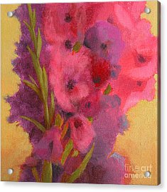Gladiolas No. 1 Acrylic Print by Melody Cleary
